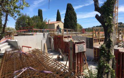 évolution chantier à Vallauris